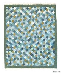 Kilim Area Rug K0004620 Light Blue Green New Turkish Kilim Area Rug
