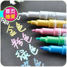 5pcs lot multi color marker pen gold white oil colors metal paint