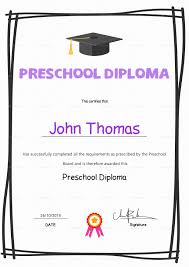 preschool diploma preschool diploma certificate design template in psd word
