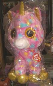 ty beanie boo buddy fantasia unicorn 42cm rainbow colourful