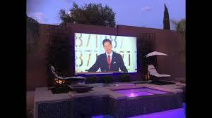 Backyard Projector Screen by True Hd Grey Outdoor Projector Screen Youtube