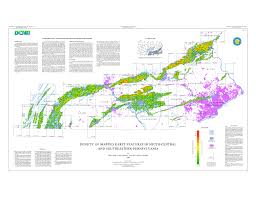 Map Of Central Pennsylvania by Dms Mineral Of The Month Page February 2007