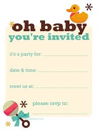 baby shower invitations free printable baby shower invitations