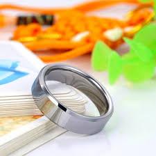beveled ring black white tungsten wedding bands set for women and men