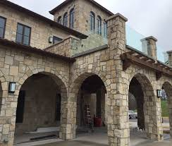 exterior alluring halquist stone with arched door and arched