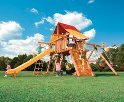 exterior exciting outdoor playground design with natural green