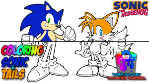coloring sonic the hedgehog and tails sega video games coloring