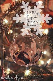 cheap easy diy baby keepsake ornament still being molly
