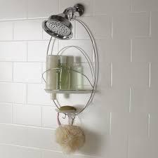 Bathroom Caddies Shower Bathroom Simple Modern Floating Iron Caddy Shower Idea To