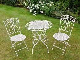 white outdoor table and chairs garden furniture