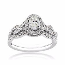 oval diamond wedding set in 14 kt white gold rb6795a44