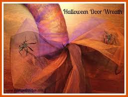 Halloween Spider Wreath by Halloween Decorations Door Wreath Me Myself And Jen