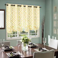 Yellow Grommet Curtain Panels by Amazon Com Thermalogic Trellis Cotton Curtains Tie Up Panel 40
