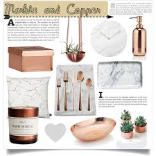marble and copper polyvore