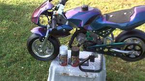 pocket bike custom painted by the clintmeister youtube