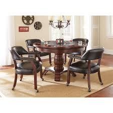 Poker Table Chairs With Casters by Steve Silver Tu500 Tournament Captains Chair With Casters