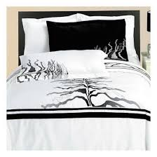 Black And White King Size Duvet Sets Amazon Com Modern Black And White Vines Embroidered Cotton