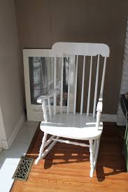nice white wooden rocking chairs