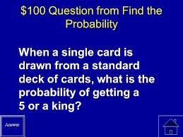 probability jeopardy final jeopardy simple probabilities