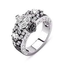 black gothic rings images Dalaran skulls cubic zirconia rings for women heart jpg