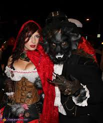 apocalyptic red riding hood and the wolf costume