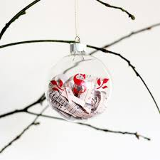 monogrammed glass ornament filled with sheet erin spain