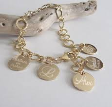 personalized picture charms mothers jewelry personalized charm bracelet gold disc bracelet