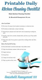 hotel kitchen cleaning checklist latest house cleaning checklist