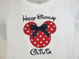 happy birthday minnie mouse personalized