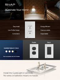 Kitchen Cabinet Seconds 1 Pack Snappower Guidelight Outlet Wall Plate With Led Night