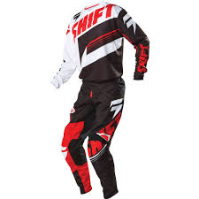motocross youth gear shift racing 2016 assault jersey pants package black white