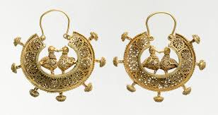photo of earrings pair of earrings work of heilbrunn timeline of history