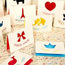 mini greeting card with envelopes universal wishing cards