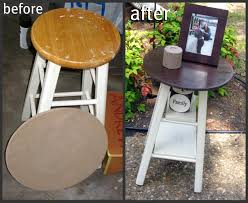 don u0027t throw that old stool out make it into a table instead