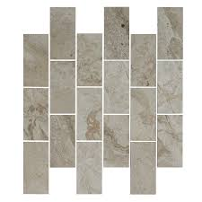 faber 12 in x 14 in palace taupe polished marble mosaic indoor