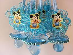 mickey mouse baby shower decorations 12 baby mickey mouse pacifier necklaces baby shower favors