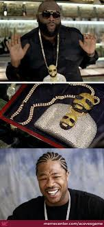 Rick Ross Meme - yo dawg rick ross wearing a chain of himself of wearing a chain of