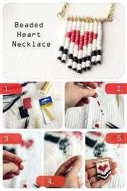 heart beaded necklace images Diy beaded heart necklace pictures photos and images for jpg