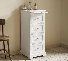 Narrow Bathroom Floor Cabinet by Bathroom Storage Pottery Barn