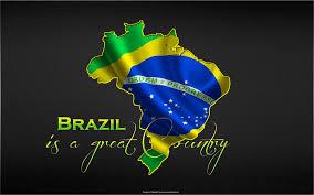 The Flag Of Brazil Screenpainting Art Of Alexander Kofler Wallpaper