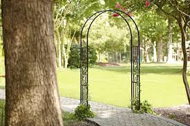essential garden metal arbor outdoor living outdoor decor