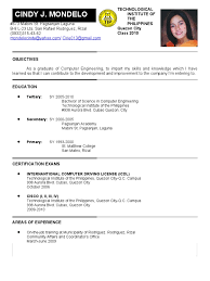 Resume Sample Doc Philippines by Resume Example In The Philippines Augustais
