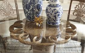 unique round glass top dining table set elegant table ideas