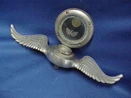 1917 reo boyce moto meter winged radiator cap ornament mascot