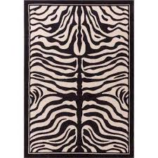 Zebra Print Area Rug 8x10 Animal Print 8 X 10 Area Rugs Rugs The Home Depot