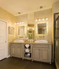 bathroom lighting ideas houzz brown finish maple wood storage van