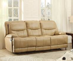 Double Reclining Sofa by Homelegance Risco Double Reclining Sofa Honey Taupe 8599tpe 3