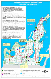 Howell Michigan Map by Color Tour Admire Protected Lands The Leelanau Conservancythe