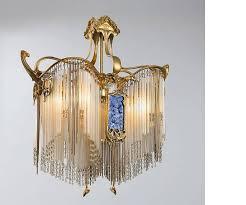 Lights Chandelier Nouveau Boudoir Chandelier By Hector Guimard At 1stdibs