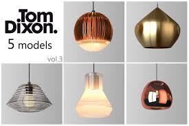 tom dixon lighting set 3 3d cgtrader